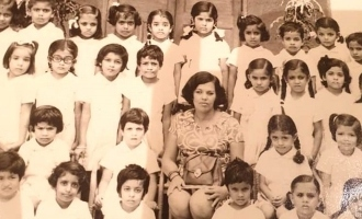 என்னை கண்டுபிடியுங்கள் பார்ப்போம்: பள்ளி குரூப் புகைப்படத்தை பதிவு செய்த 'பாகுபலி' நடிகை