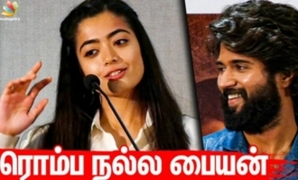 How I learnt to speak Tamil - Rashmika Mandanna cute speech