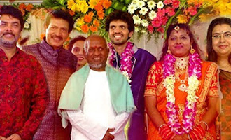 Ilayaraja, Sundar C at Actor Nizhalgal Ravi Son Wedding Reception