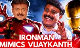 LOL ! : Ironman Hilariously Imitates Vijaykanth | Dubbing Artist Ravishankar Interview
