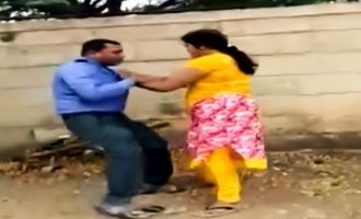 Me Too Action Video! - Woman bashes bank manager who asked sexual favour