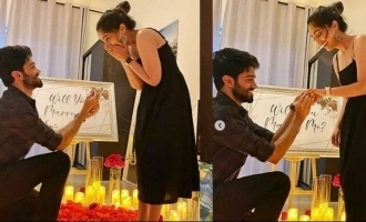 'Bigil' actress Reba Monica John engaged after surprise proposal by lover pics go viral