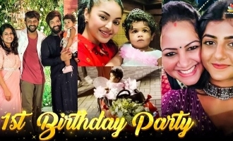 Rio Raj's daughter Rithi first birthday celebrations with Bigg Boss 4 and TV stars