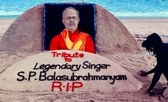 Popular sand artist makes an amazing tribute to SP Balasubrahmanyam, photos viral!