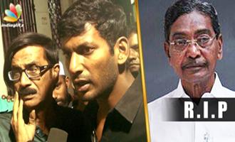 Vishal pays homage to old Nadigar Sangam member