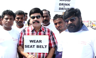 Celebs at  Road Safety Helmet Awareness Rally