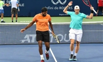 What is the connection between Denis Shapovalov and India's doubles champion Rohan Bopanna?