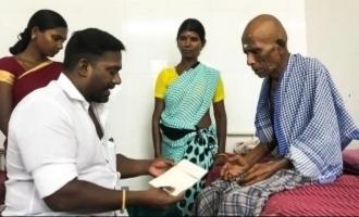Robo Shankar donates to cancer stricken actor Thavasi and motivates him to fight