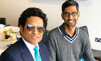 Sundar Pichai Meets Sachin, Quotes Dhoni
