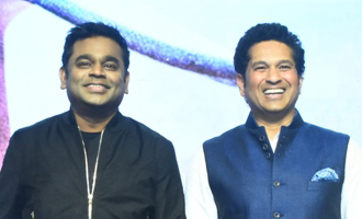 AR Rahman & Sachin Tendulkar at the launch of Sachin Sachin Song
