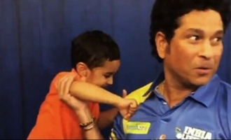 Irfan pathans son boxing match with Sachin Tendulkar