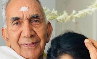 தாத்தாவின் 85வது பிறந்த நாளை கொண்டாடிய பிரபல தமிழ் நடிகை: வைரல் புகைப்படங்கள்!