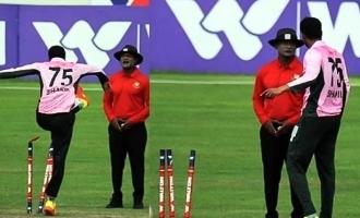 [VIDEO] Shakib Al Hasan kicks stumps, throws them away after argument with umpire