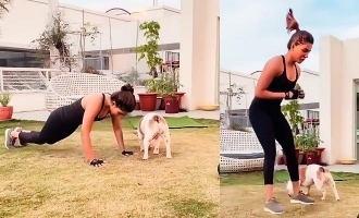 Samantha's cute workout video with her pet turns viral!