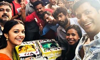 'Sandakozhi 2' team celebrates Blockbuster Irumbuthirai & classical showpiece Nadigaiyar Thilagam
