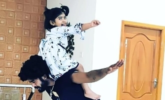 Sandy master and his daughter dance for Theri song