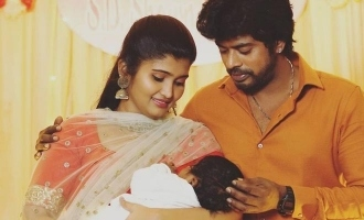 Sandy's newborn son baptism ceremony photos go viral and name revealed