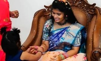 சாண்டி மாஸ்டர் வீட்டில் நடந்த விசேஷம்: அம்மாவுக்கு நலங்கு வைத்த லாலா பாப்பா!