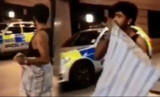 Sandy's Rajini style lungi dance in London turns funny when he sees police - Video