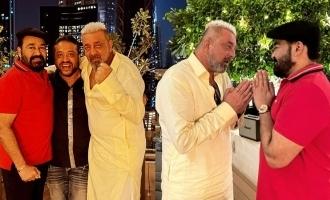 Mohanlal meet Sanjay Dutt and share Diwali wishes