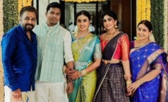 Actress Saranya Ponvannan's daughter gets engaged