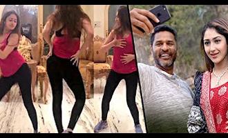 Prabhu Deva & Sayesha Saigal dance practice for 'DAMN DAMN' song