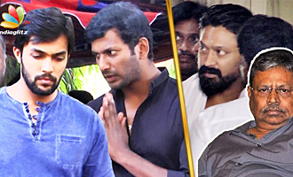 Vishal, Aarav pays last respect to Actor krishna's Father