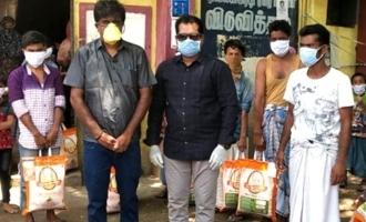 250 மூட்டைகள் அரிசி வழங்கி உதவி செய்த P.T.செல்வகுமார்