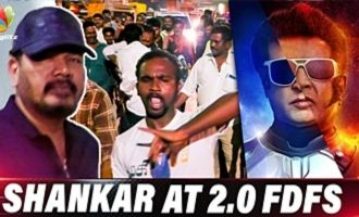 Director Shankar at 2.0 FDFS at Kasi Theatre
