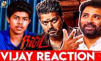 Sanjay Shortfilm - Thalapathy Vijay's Reaction : Shobi Master Interview