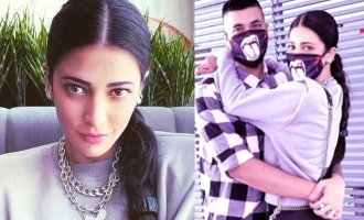 Shruti Haasan's romantic meet with boyfriend in Chennai - photos viral!