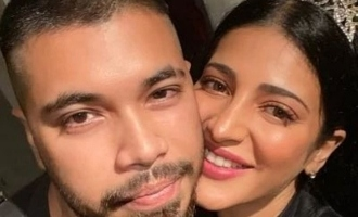 Shruti Haasan boyfriend Santanu Hazarika coronavirus lockdown with cat photos images pics