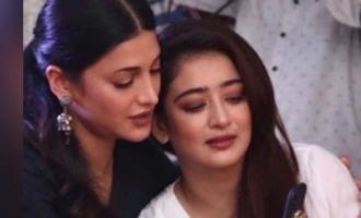 Shruti Haasan gets emotional after seeing sister Akshara Haasan after a long time