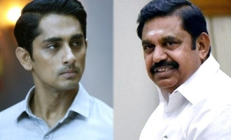 """Ashamed Edapadi is from my state"" - Siddharth slams!"