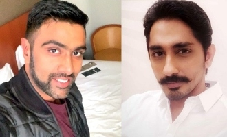"""You're a legend"" - Siddharth showers praises on cricketer Ashwin!"