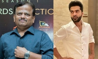 Simbu statement about director kv anand dead