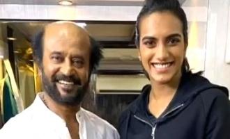 Badminton world champion's fan moment with Superstar Rajnikanth!