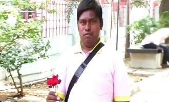 Man waits with rose in park to find love!