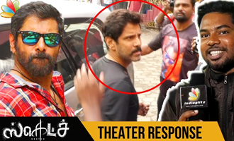Vikram at Vettri Theatre for 'Sketch' FDFS