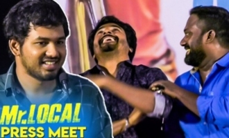 Sivakarthikeyan trolls Robo Shankar in Mr. Local press meet