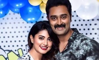 Sneha's delightful wish to her husband Prasanna on his birthday! - See Pics