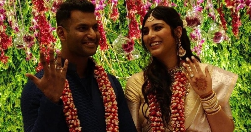 Vishal and Anisha get engaged