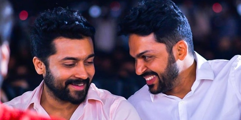 Karthi gives a happy update for fans of Suriya! - Tamil News - IndiaGlitz.com