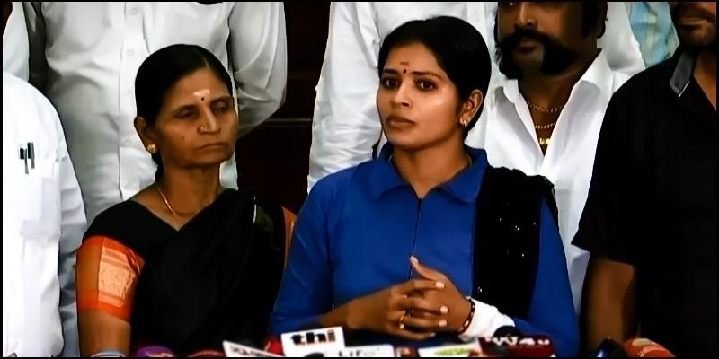 Madhumitha meets press regarding police complaint - Tamil News - IndiaGlitz.com