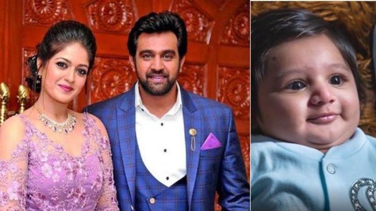 Meghana Raj introduces her baby to the world through a cute and emotional video - Tamil News - IndiaGlitz.com