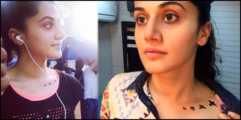 Tapsee Pannu breaks the secret behind new tattoo on her body - Tamil News - IndiaGlitz.com