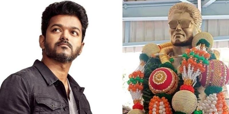 Kannada vijay fans gift vijay statue – தமிழ் News