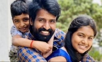 Soori and his children donate for COVID 19 relief