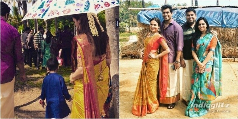 Soundarya and Vishagans lovely village Pongal celebration with son Ved!