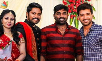 Vijay Sethupathi, Arun Vijay at Soundararaja, Tamanna Wedding Reception
